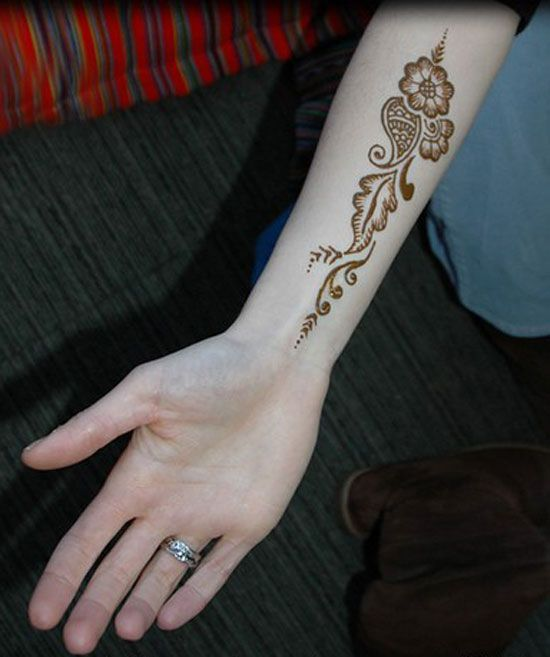 Henna for your inner arm