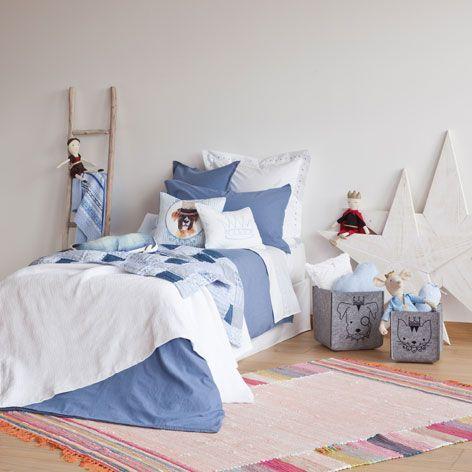 MULTICOLOURED COTTON RUG - Rugs & Curtains - Bedroom | Zara Home United Kingdom