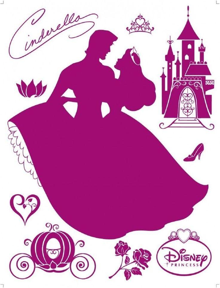 Cute Details zu Flock Wandtattoo Wandsticker Tattoo Wanddeko Disney Princess Prinzessin