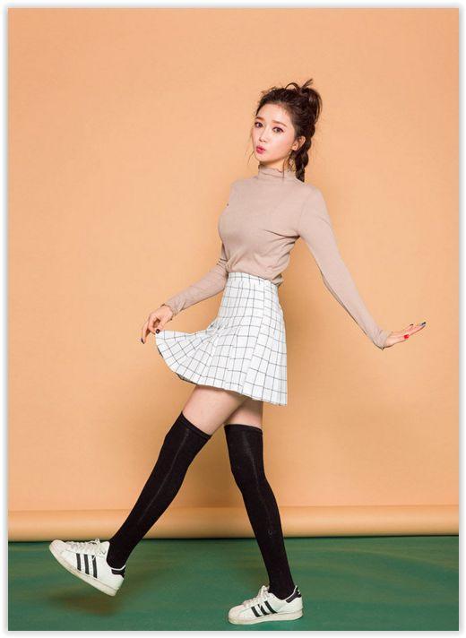 chuu - Check Mini Skirt #koreanfashion #checkskirt #miniskirt