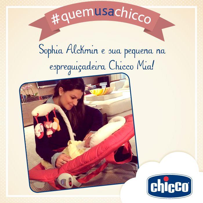 Sophia Alckmin e sua pequena na espreguiçadeira Chicco Mia! #quemusachicco