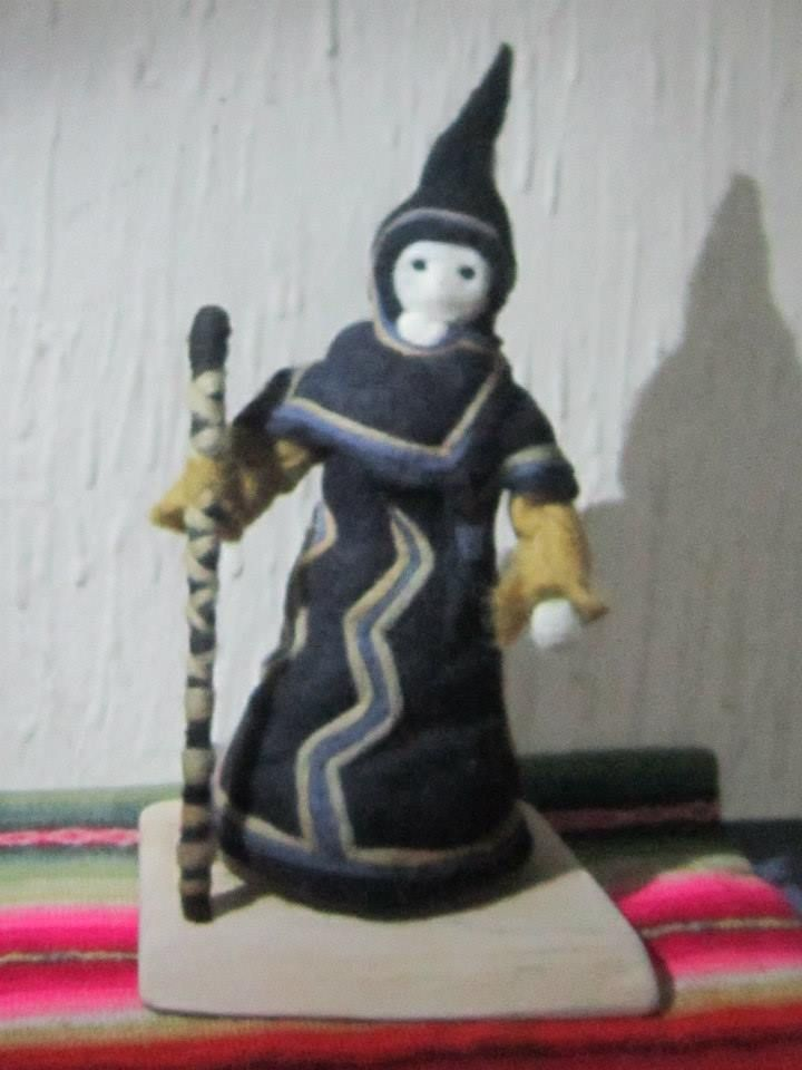 needle-felt wizard by mialma.cl