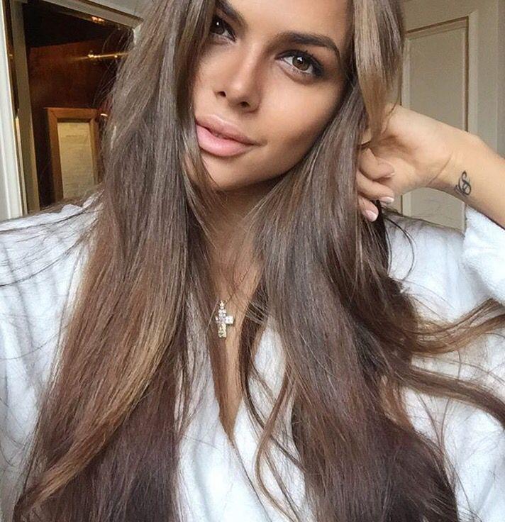 Light ash brown hair