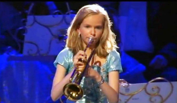 10 years girl playing trombone, beautiful tone - YouTube