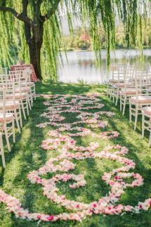 Al Fresco Calistoga Wedding with Layers of Pink: http://www.stylemepretty.com/california-weddings/2014/07/04/al-fresco-calistoga-wedding-with-layers-of-pink/ | Photography: Matt Edge - http://mattedgeweddings.com/