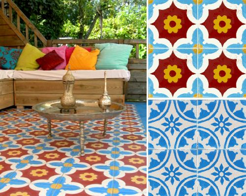 moroccan floor tiles, from company in The Netherlands, lots of great patterns!