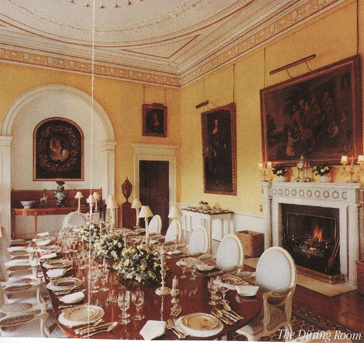 The Dining Room At Broadlands Romsey Hampshire Stately