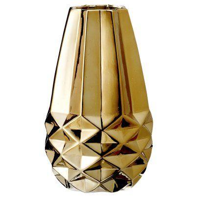 Danish Gold Porcelain Vase