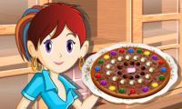 A chocolate pizza?! Don't knock it til you've tried it :)  http://www.girlsgogames.com/game/saras_cooking_class_chocolate_pizza.html