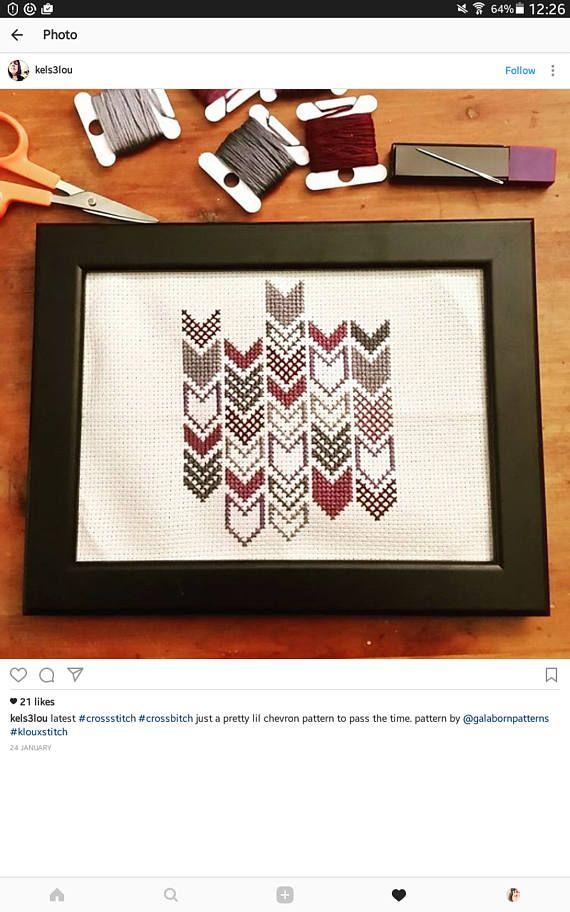 Modern cross stitch PDF Counted cross stitch pattern