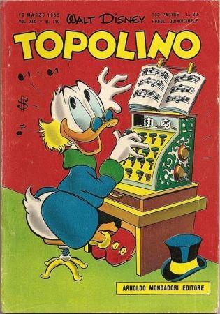 La copertina dello storico numero 133 di #Topolino. Zio #Paperone suona la sinfonia dei soldi...