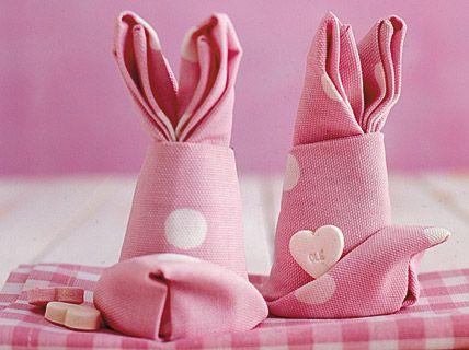 Easter Bunny Folding Napkins