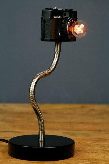 On sale - Camera Lamp  Konica C35. $150,00, via Etsy.