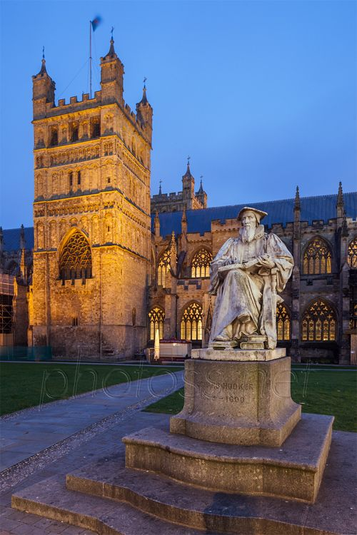 Built in 1133 Exeter Cathedral in Devon, England