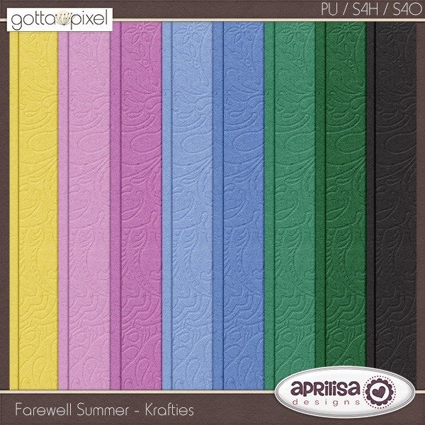 {Farewell Summer} Digital Scrapbook Kit by Aprilisa Designs  http://www.gottapixel.net/store/manufacturers.php?manufacturerid=135 http://store.gingerscraps.net/Aprilisa-Designs/