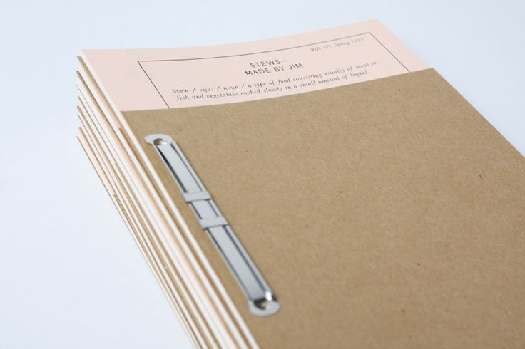 Nice choice of materials & binding for Food&