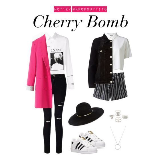 """Outfits inspired by """"Cherry Bomb"""" by NCT 127 (Requested by anon"""