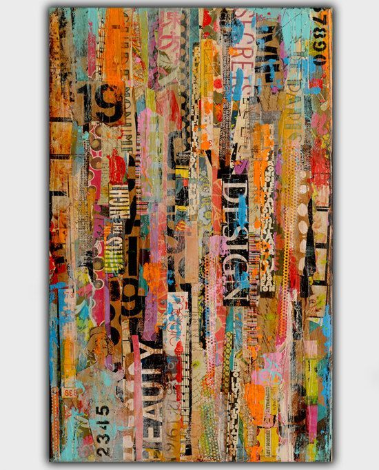 2735 best images about mixed media art on pinterest for Collage wall art ideas