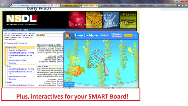 Tons of Free Common Core Lessons and SMART Board activities for all