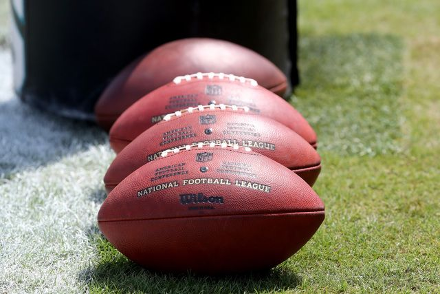 Footballs are lined up on the field during a game between the Jacksonville Jaguars and Green Bay Packers at EverBank Field on September 11, 2016 in Jacksonville, Florida. (Photo by Sam Greenwood/Getty Images)