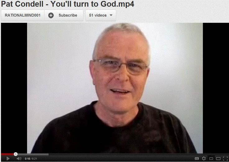 Pat Condell - You'll turn to God - Pascal's wager.    > > > > Click image!