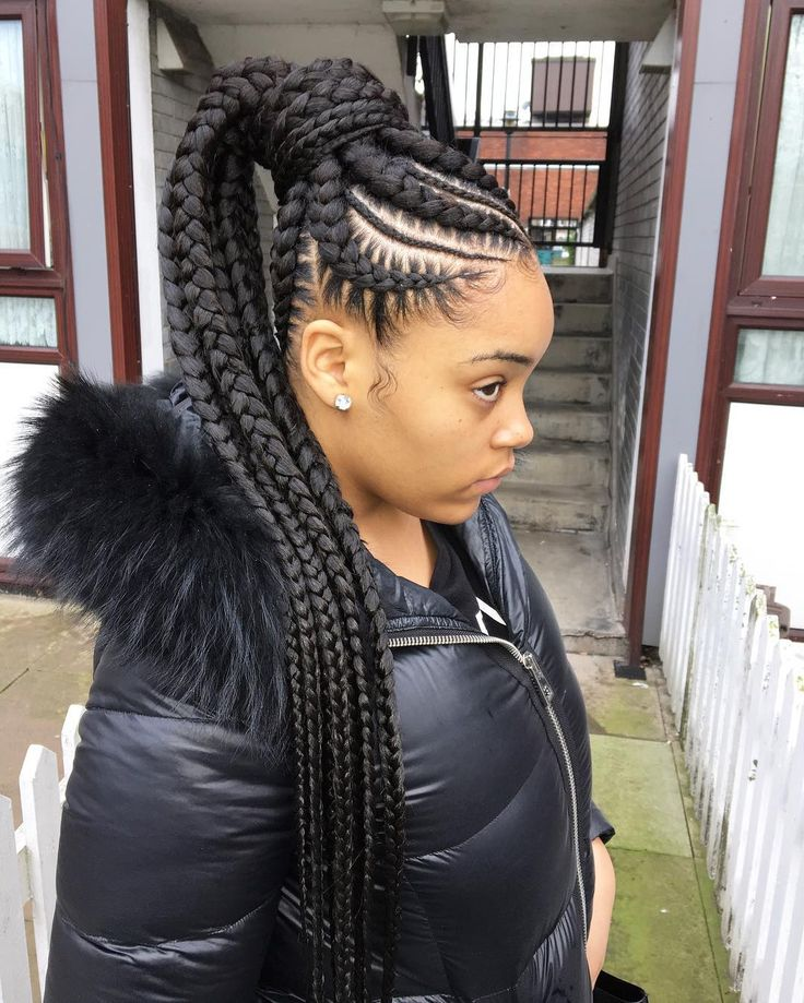 nice 45 Breathtaking Hairstyles with Big Box Braids - Being Intricately Beautiful Check more at http://newaylook.com/best-hairstyles-with-big-box-braids/
