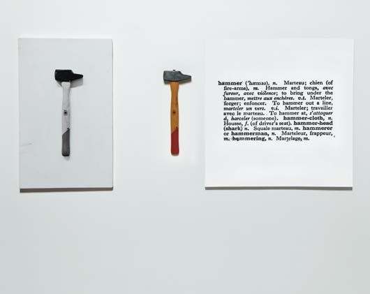 Joseph Kosuth, One and three hammers, 1965