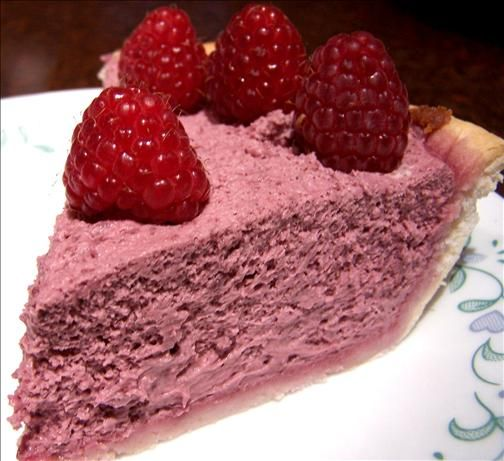 Easy Raspberry Cream Cheese Chiffon Pie from Food.com: Light and Berry creamy! Cook time is chill time. This is a great filler for a trifle layering with chocolate or vanilla cake and a layer of whipped cream and or berries.