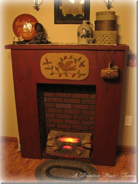 A Primitive Place Tammy My Faux Fireplaces Pinterest