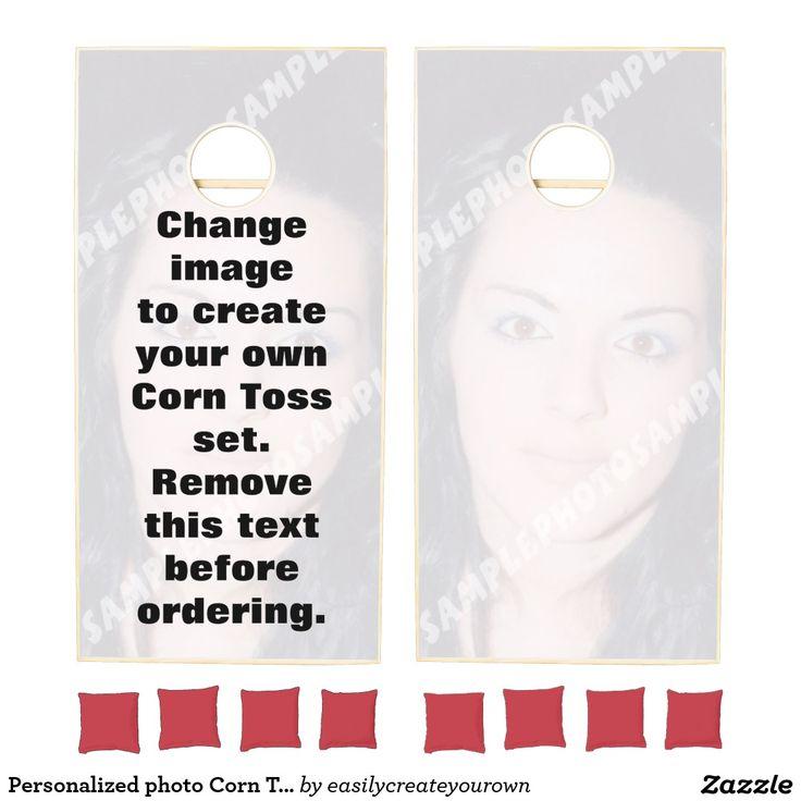 Personalized photo Corn hole set or cornToss. Make your own!  #corntoss #cornhole
