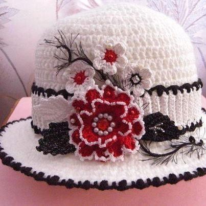 crochet hat -