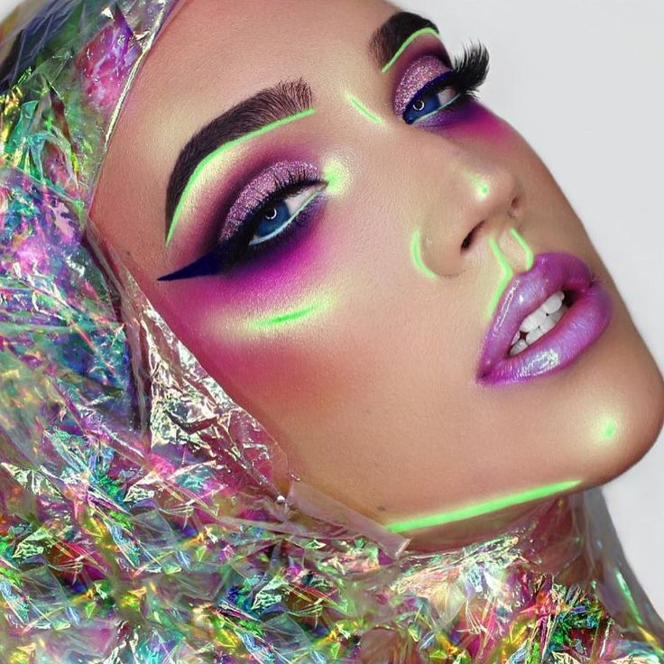 Inspired like a mofo by this gorgeousness by @openmindfreesoul  What do you think for your next sesh....but in hair color obvi @darthlux?? #inspo #opal #neon #hairart #makeup by vividartistichairdesign You can follow me at @JayneKitsch
