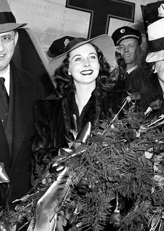 December 15, 1939: Vivien Leigh and David O. Selznick arrive in Atlanta for the premiere of Gone With the Wind.