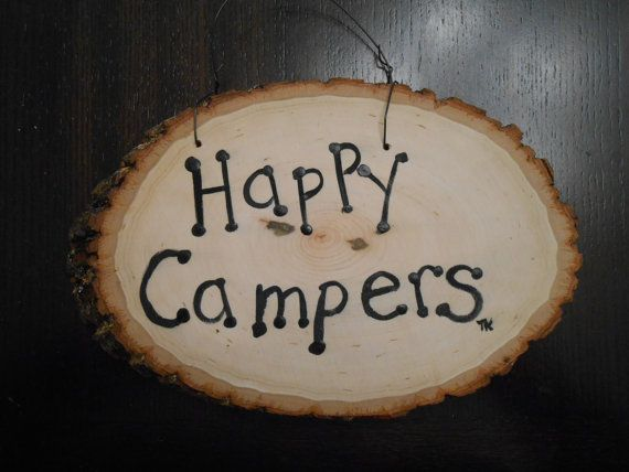 Welcome Sign and Happy Campers Sign  reversible..One by tamramk, $24.99