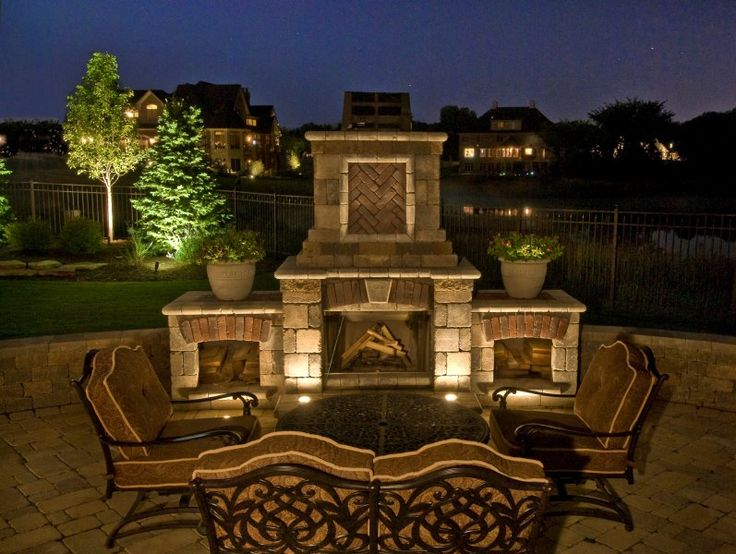 Fireplace lighting outdoor accents lighting fireplace for Yard accent lights