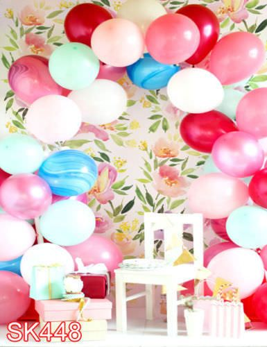 Children Birthday Balloon  5x7 FT CP PHOTO SCENIC BACKGROUND BACKDROP MA-SK448 #HUAYI #Scenic  We can design a unique backdrop for you.