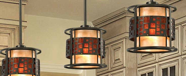 The Oak Park family finished in Java Bronze offers clean lines with simple, geometric forms to show true craftsman's styling. This 1 Light Mini Pendant is finished in Java bronze paired with White and Amber Micca. #tiffany #lighting #homedecor