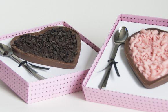 Coração de Chocolate. Que delícia de doce para presentear!