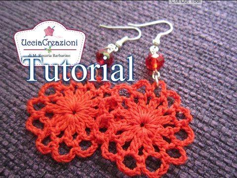 ▶ Tutorial 3 . * Orecchini Primavera all'uncinetto * How to do Spring Crochet Earrings - YouTube