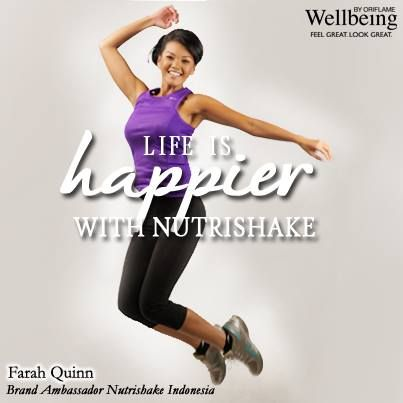 Farah Quinn - Brand Ambassador Nutrishake Indonesia. Feel Great Look Great!