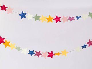 Guirnalda de papel Estrellas Multicolor — Mundo Repollo