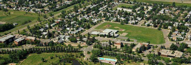 Aerial view of Leduc, Alberta