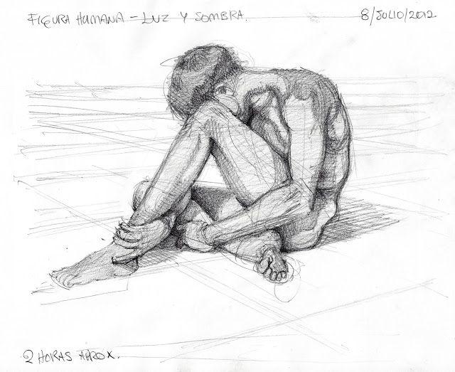 El Blog del Profe de Dibujo.: Luz y Sombra en figura humana, basado en foto.