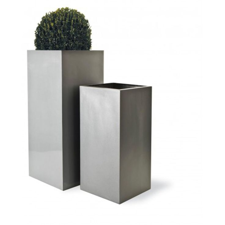 Buy Geo square lightweight planter : Delivery by Waitrose Garden in association with Crocus