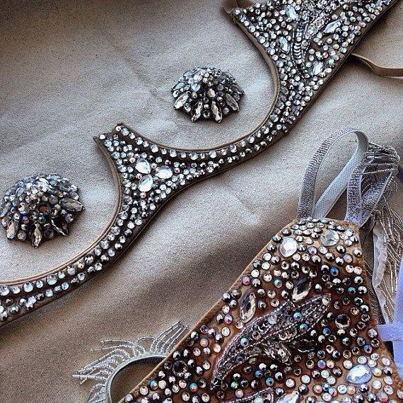 Burlesque underwire bra pasties and gstring set by GloriousPasties, so fabulous! -Para un show privado para mi esposo