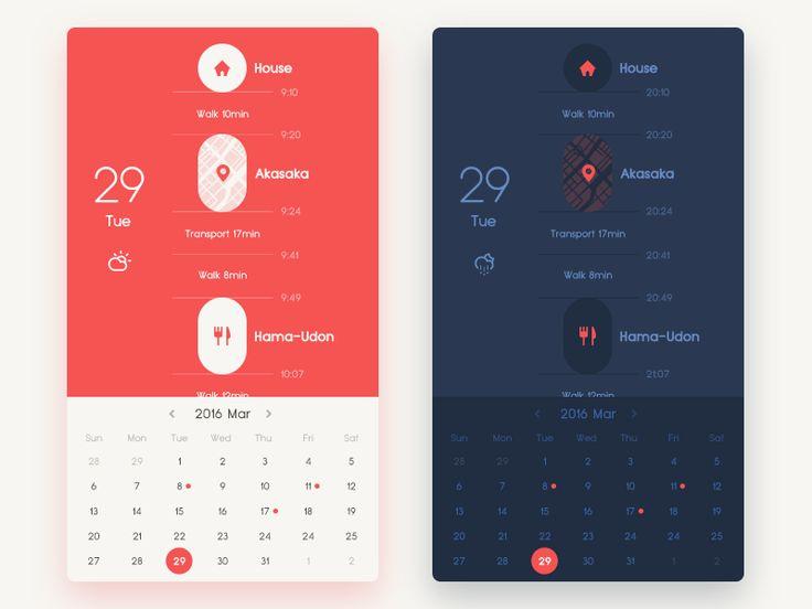 Life log Calendar - with night mode UI