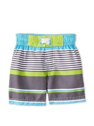 48% OFF Wippette Kid's Stripe Board Short (Turquoise)