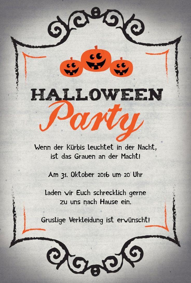 Die Besten 25 Halloween Einladungstext Ideen Auf Pinterest