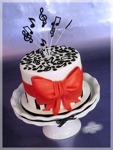 Music themed Cake-For Emily Lovans birthday!! :)