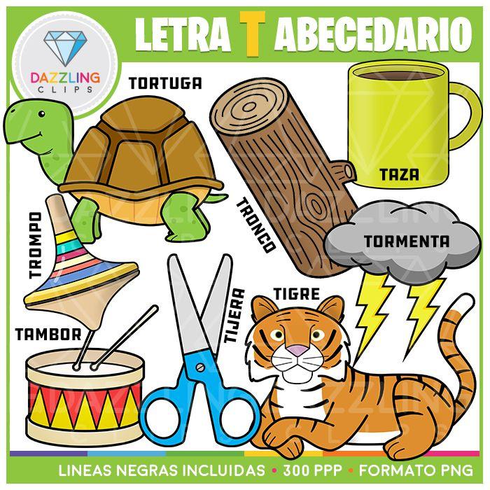 Letra T Abecedario Spanish Lettering Alphabet Spanish Alphabet Clip Art